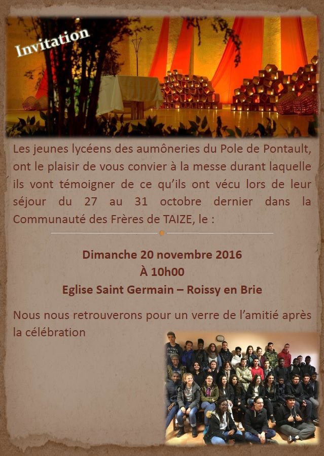 Invitation Taize