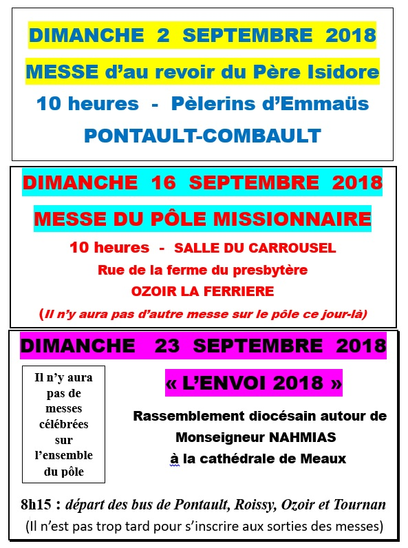 Evenements septembre2018