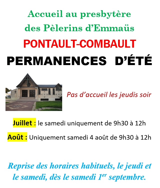 Permanences Pontaut ete2018